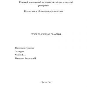 Титульный лист отчета по практике на тему _ЛВС_